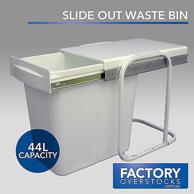 44L Slide Out Waste Bin - Pull Out Concealed Kitchen Rubbish Garbage