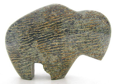 Small Carved Stone Buffalo Fire & Ice Store 1880's