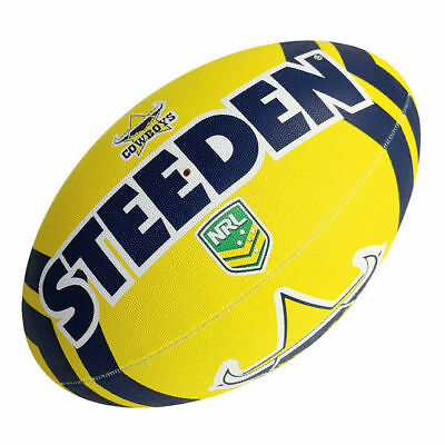 "NRL North QLD Cowboys Logo 11"" Kids Small Football Foot Ball STEEDEN 2017 Gift"