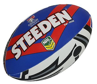 "NRL Newcastle Knights Logo 11"" Kids Small Football Foot Ball STEEDEN 2017 Gift"
