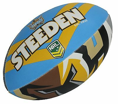"NRL Gold Coast Titans Logo 11"" Kids Small Football Foot Ball STEEDEN 2017 Gift"