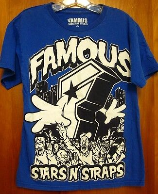 FAMOUS STARS STRAPS small kaiju T shirt skate BMX monster rampage tee Blink 182