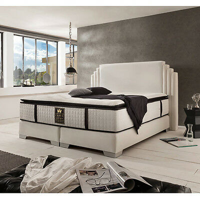 king george deluxe boxspringbett hotelbett amerikanisches bett 160x200cm schw eur. Black Bedroom Furniture Sets. Home Design Ideas