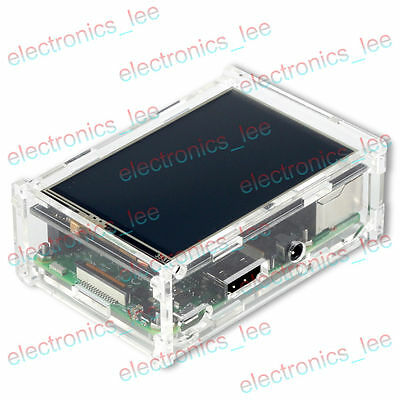 Acrylic Case Shell  compatible 3.5'' LCD display Raspberry Pi 3 / B+ / 2 Model B