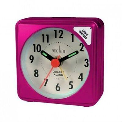Bentima By Acctim Ingot Mini Alarm Clock Pocket Size Pink Battery Operated