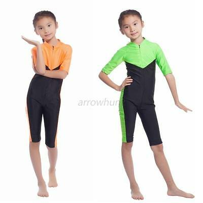 Kids Girls Islamic One-piece Swimwear Toddler Half Sleeve Swimsuit Beachwear Hot
