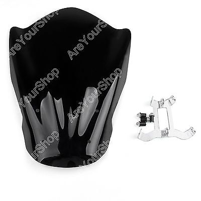 Windshield WindScreen + Bolts Bracket For Yamaha MT-07 FZ-07 2013-2015 Black