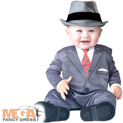 Boss Baby Gangster 6-24 Months Fancy Dress Suit Boys Toddler Infant 20s Costume