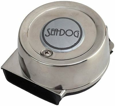 Boat Marine Single Mini Compact Horn 110db 4 amp 12 Volt Stainless Cover Sea-Dog