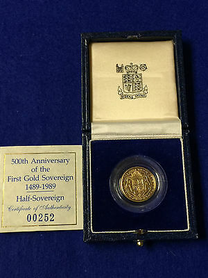 Royal Mint Uncirculated United Kingdom Proof Half Sovereign Gold Coin
