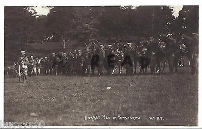 soldier group Surrey Yeomanry at annual camp Petworth Sussex 1913