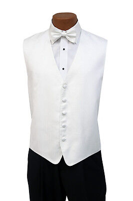 XL X-Large White Sparkle Andrew Fezza New York Stardust Fullback Vest w/ Bow Tie
