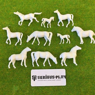 Model Horses - Farm Animals - Scale Plastic Railway Scenery 00 Unpainted HO/OO