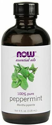 NOW Foods PEPPERMINT OIL Aromatherapy 100% Pure Essential Oil - 4 fl oz (118 ml)