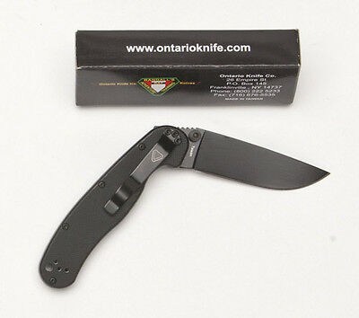 Ontario RAT Model II Folder, BP - Black Handle 8861