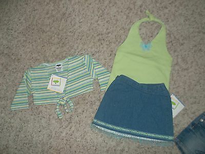 NWT MULBERRIBUSH Girls Outfit Halter Shrug Skirt Size 3T
