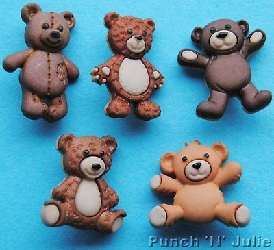 STUFFED WITH LOVE Teddy Bear Cuddly Toy Baby Children Dress It Up Craft Buttons