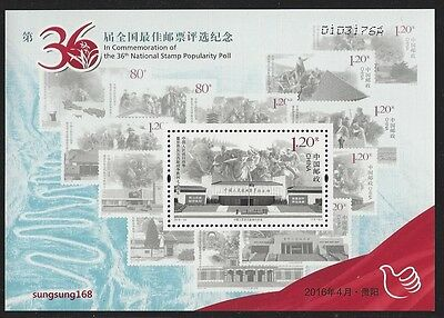 China 2016 36th Best Stamp Popularity Poll S/S 2015-20