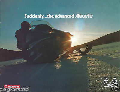 Snowmobile Brochure - Coleco Alouette Product Line Overview 1973 Quebec (SN02)