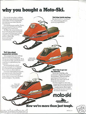 Snowmobile Brochure - Moto-Ski - Product Line Overview Ad - 1973 Quebec (SN03)