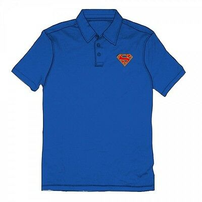 Superman Emblem Logo Royal Polo XXL Brand New