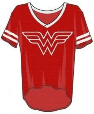 DC Wonder Woman Hi/Lo Mesh V-Neck S Brand New