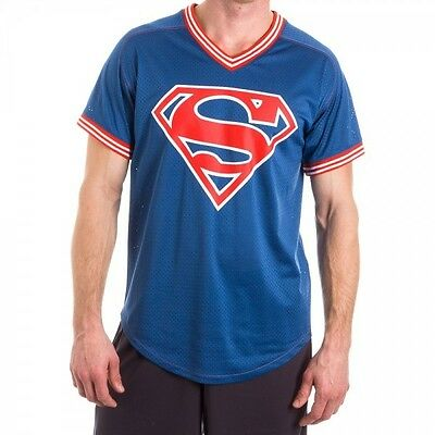 Superman S Shield Mens Navy Football Tee S Brand New