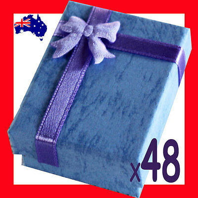 Reliable 48X Earring Jewellery Gift Box-5x6cm-Blue | AUSSIE Seller