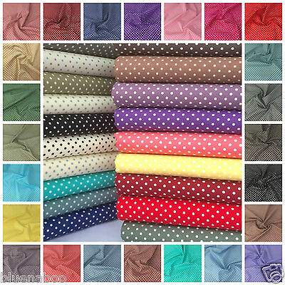 POLKA DOT 100% cotton fabric 50 colours per FQ, half metre or metre