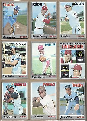1970 70 Topps YOU PICK SINGLES FROM #1-720 ALL HIGH GRADE NEAR MINT OR BETTER