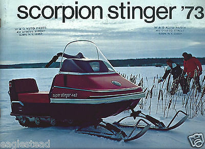 Snowmobile Brochure - Scorpion Stinger - Product Line Overview - 1973 (SN08)