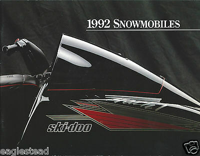 Snowmobile Brochure - Ski-Doo - Product Line Overview - 1992 (SN10)