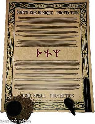RUNIC SPELLCRAFT PROTECTION & DEFENCE KIT Wicca Witch Pagan Goth RITUAL KIT