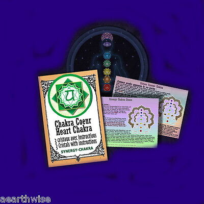 HEART CHAKRA SYNERGY CRYSTALS KIT Wicca Witch Pagan Goth RITUAL KIT