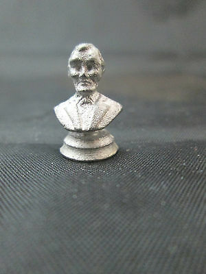 Dollhouse Miniature Unfinished Metal Lincoln Bust