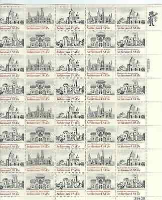 Scott #1838/41...15 Cent...Architecture...Sheet of 40 Stamps