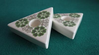 FABULOUS PAIR OF JERSEY POTTERY FUNKY 1970s CANDLESTICK HOLDERS