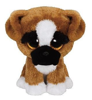 Ty Beanie Boos - Brutus Boxer the Dog Soft Plush Cuddly Collectible Toy New