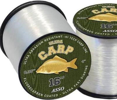 ASSO ULTRA CARP Fishing Line Fluorocarbon Coated  - All Breaking Strains