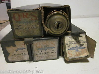 5 Vintage Mechanical Player Piano Rolls Qrs 1910's Various Music Rolls Lot C