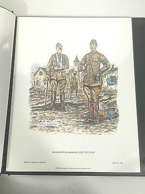 Military Uniforms In America Book of Print Plate