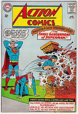 Action Comics #327 VF- 7.5 Three Generations Of Superman 1965!!