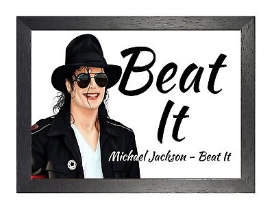 MICHAEL JACKSON - Bad 4 Lyrics Poster Legend Music Star