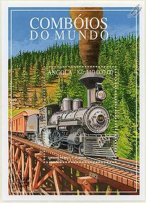 CANADIAN PACIFIC (CP) 4-4-0 No.145 Train Locomotive Stamp Sheet (1997 Angola)
