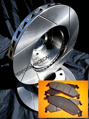 SLOTTED VMAX fits Ford Falcon SERIES 1 AU1 FRONT Disc Brake Rotors & BRAKE PADS