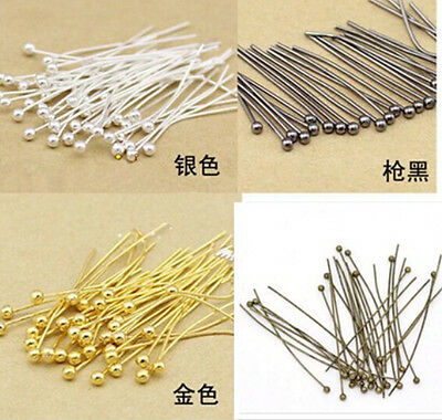 wholesale 50/100500/1000pcs Copper Ball Head Pins Crafts Findings 5 color