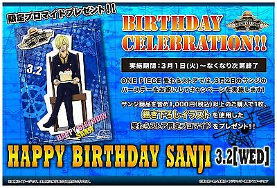 SABO Mugiwara Store Limited One Piece Wanted Poster Bromide Card