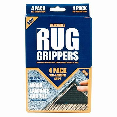 New Ruggies Rug Carpet Mat Grippers Non Slip Skid Reusable Washable Grips Uk