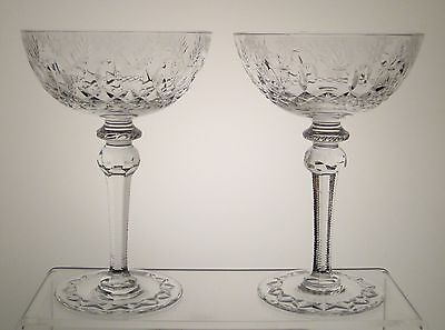 """GALLIA from BIRKS Coupe Champagne Sherbet 7 1/8"""" PAIR"""