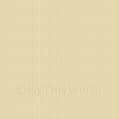 Dolls House Miniature Pale Orange Thin Striped Wallpaper